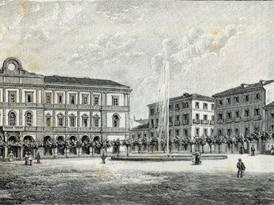 piazza campobasso illustrazione