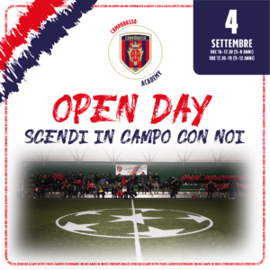 open day campobasso academy 2020