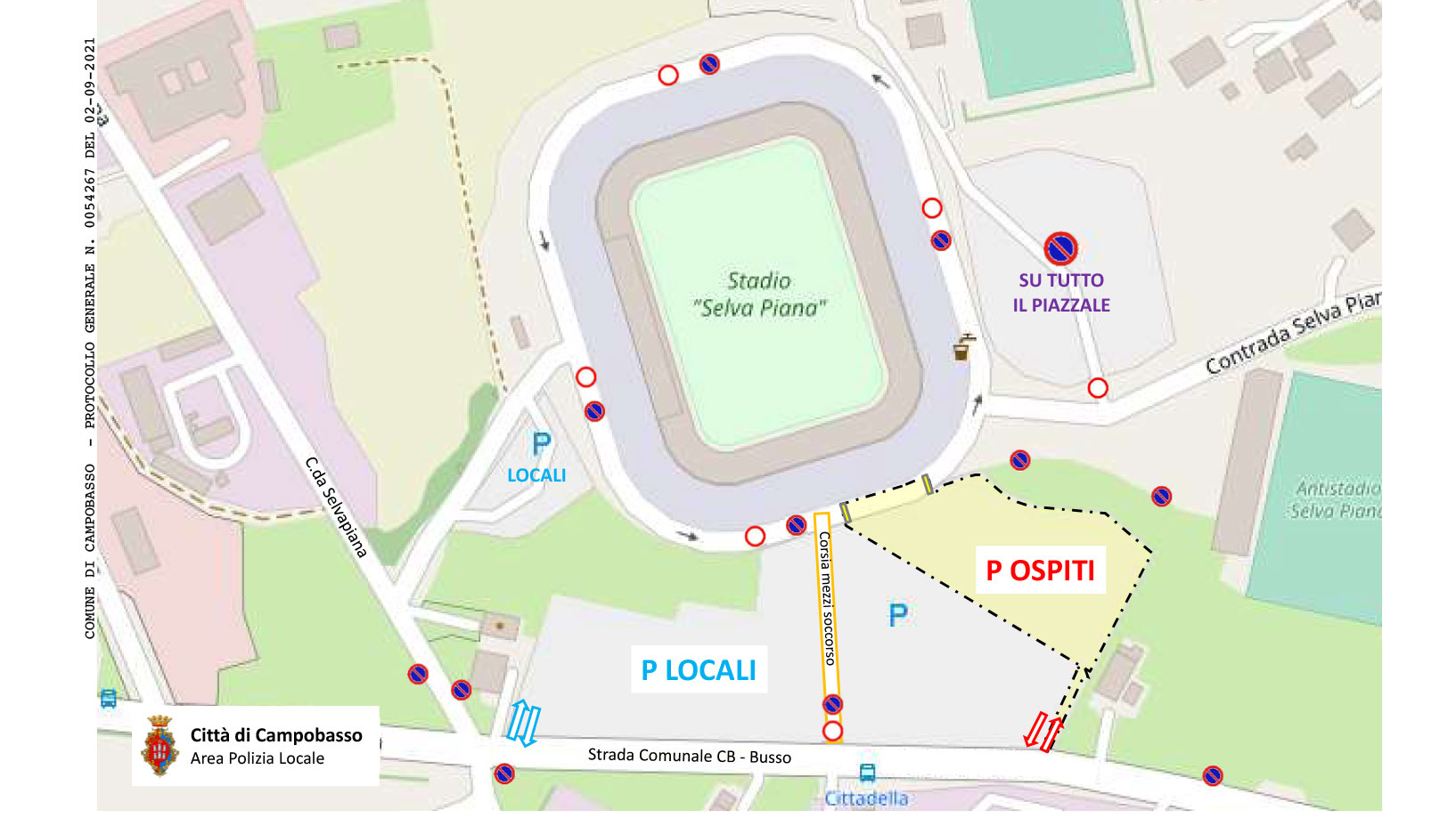 viabilità mappa stadio romagnoli campobasso